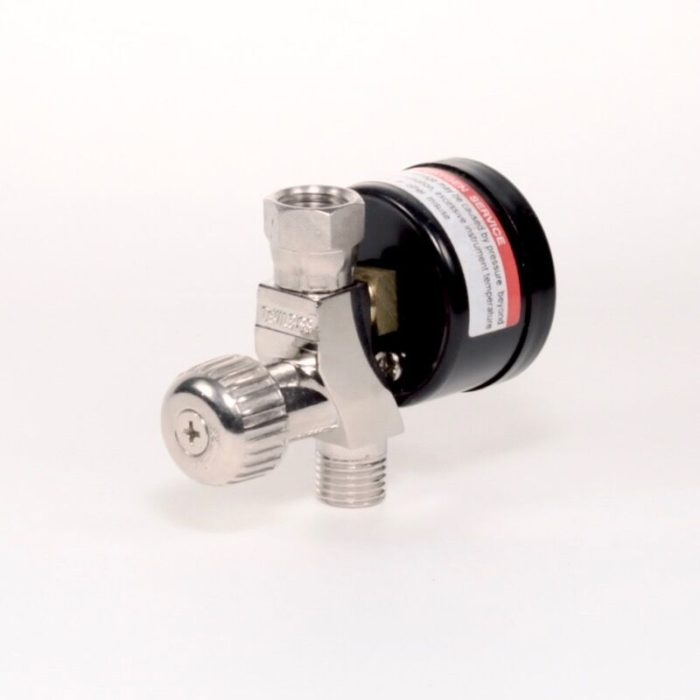 DeVilBiss High Output Air Adjusting Valve With Gauge Back